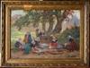 Théophile Louis DEYROLLE - Gemälde - les lavandières bretonnes