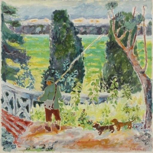 Jules CAVAILLES - Painting - La pêche