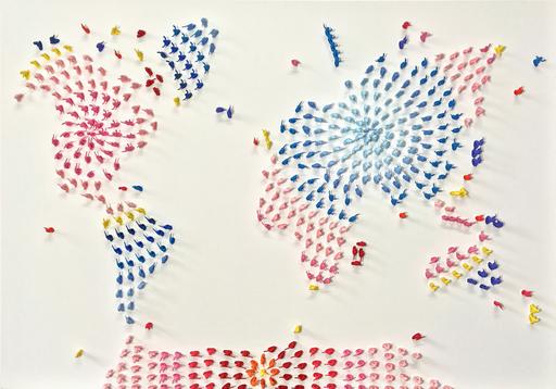 Paolo CERIBELLI - Sculpture-Volume - Rainbow Globe