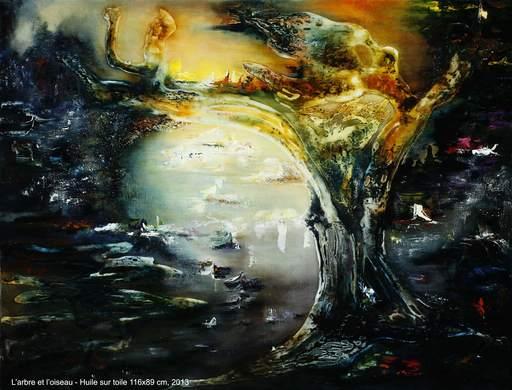 Danielle MAILLET-VILA - Pittura - L'arbre et l'Oiseau