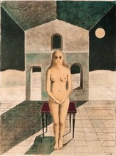 Paul DELVAUX - Estampe-Multiple - La voyante