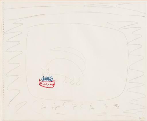 Nam June PAIK - Zeichnung Aquarell - RCA (Purina)
