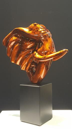 Anis DARGAA - Sculpture-Volume - Éléphantasme Orange