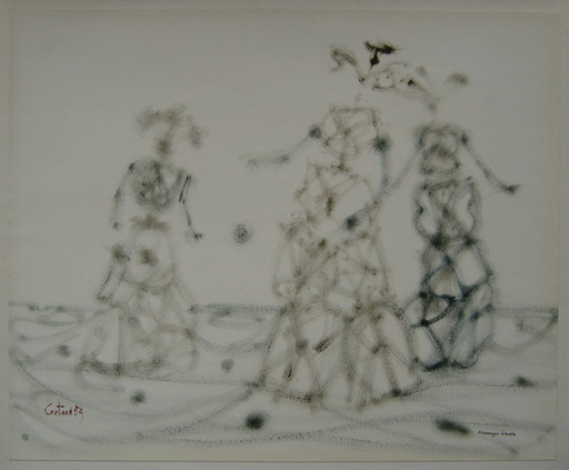Lucien COUTAUD - Disegno Acquarello - DESSIN 59 GOUACHE ENCRE SIGNÉ HANDSIGNED INK GOUACHE DRAWING