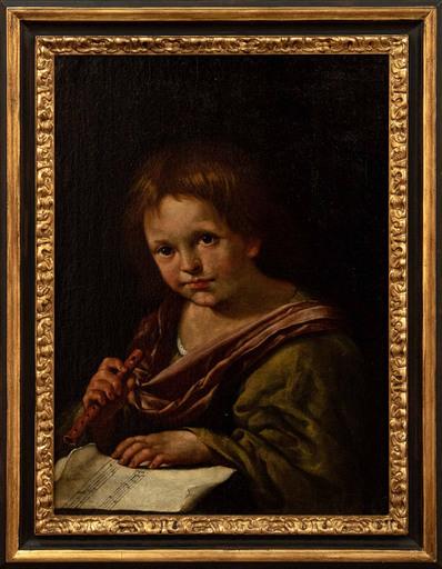 Domenico FEDELI IL MAGGIOTTO - Painting - Child with flute