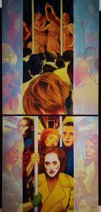 Christian SATIN - Peinture - Contemporary Allegory N°1     (Cat N° 7388)