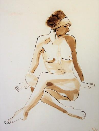 R.CAVALIÉ - Drawing-Watercolor - Sappho
