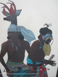 Louis DE MAYO - Grabado - Yaqui Deer Dancer