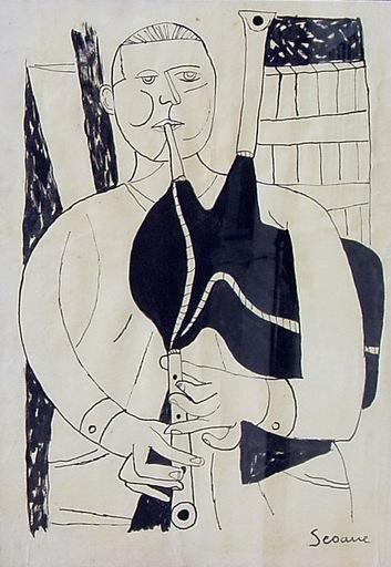 Luis SEOANE LOPEZ - Drawing-Watercolor - GAITEIRO
