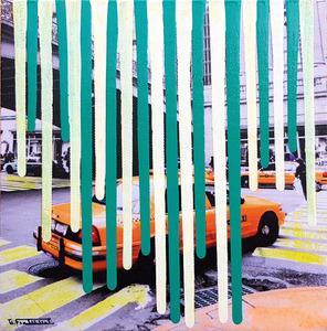 Giuseppe FORTUNATO - Peinture - taxi new york 20x20cm