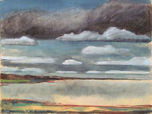 Paul MECHLEN - Drawing-Watercolor - Küste am Meer (Sylt)
