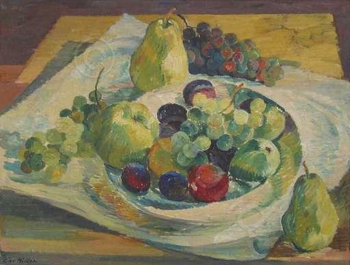 Giovanni MÜLLER - Painting - Stillleben mit Früchten