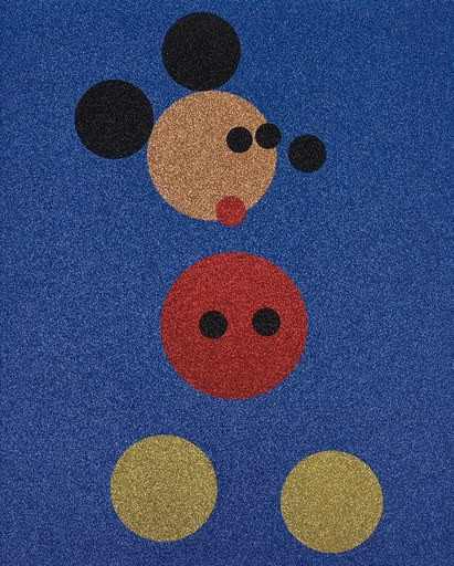 达米恩•赫斯特 - 版画 - Mickey (Blue Glitter) Large