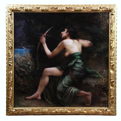 Henri Camille DANGER - Painting - La Déesse Artémis