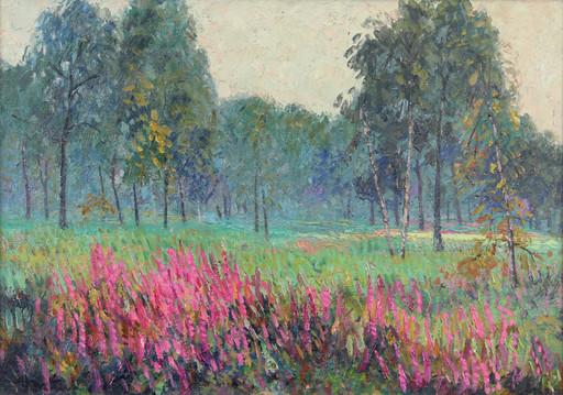 Albert MALET - Pittura - Sous bois en fleurs