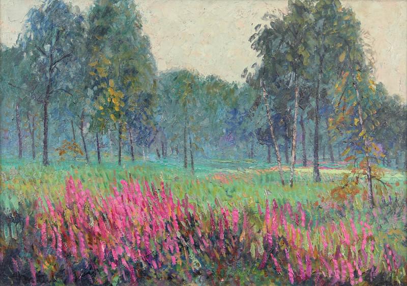 Albert MALET - Pintura - Sous bois en fleurs