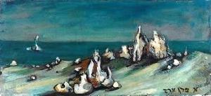 Esther PEREZ-ARAD - Painting - Surrealistic Lanscape