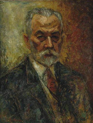 Issachar Ber RYBACK - Pittura - Portrait of a Man
