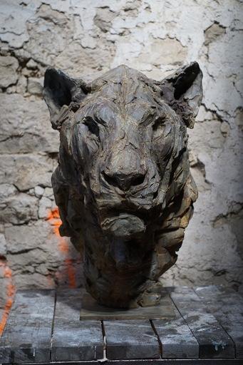 Patrick VILLAS - Sculpture-Volume - Tête de lionne III