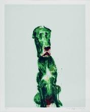 周春芽 - 版画 - Green Dog #3