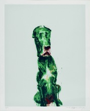 ZHOU Chunya - Print-Multiple - Green Dog #3