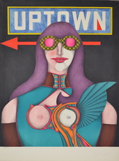 Richard LINDNER - Grabado - Uptown
