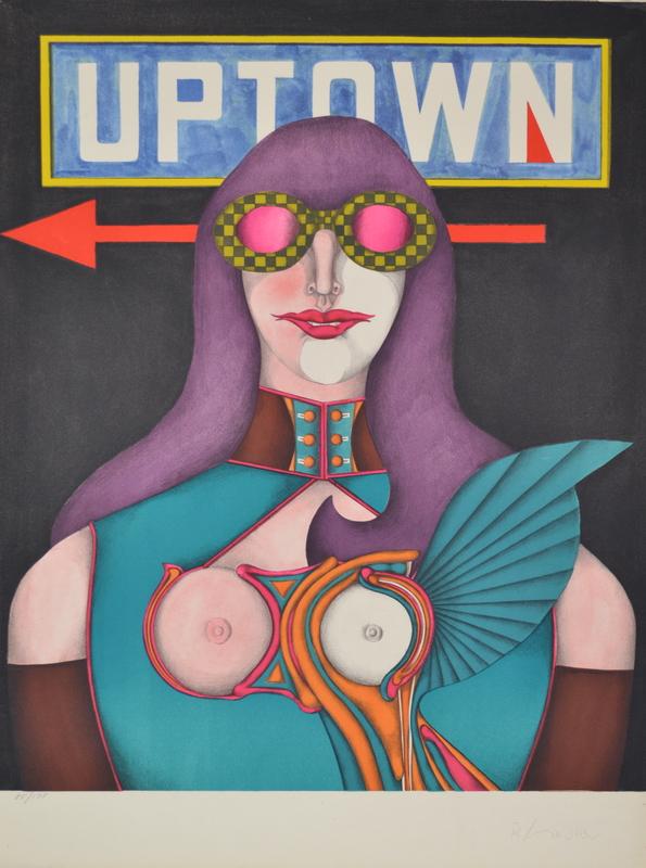 Richard LINDNER - Grabado - Uptown