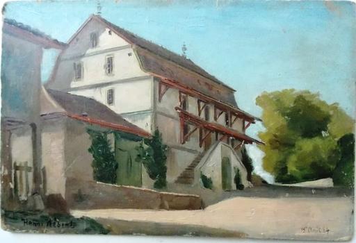 Henri HÉBERT - Painting - genier bernois