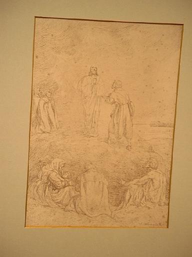 Wilhelm August Theodor STEINHAUSEN - Dibujo Acuarela - Christi Himmelfahrt