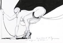 Tomi UNGERER - Drawing-Watercolor - Privat Schmuck auf Absätzen