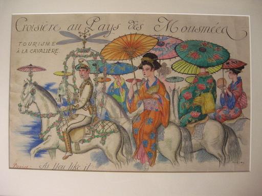 Gustave Adolphe MOSSA - Dessin-Aquarelle - CROISIERE AU PAYS DES MOUSMEES