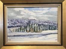 Raymonde AUBRY - Painting - Le lac des Mortes
