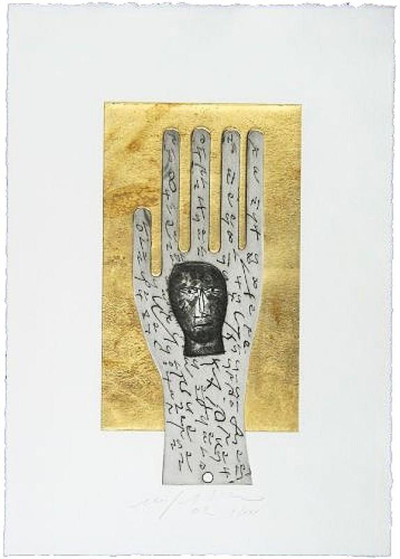 Mimmo PALADINO - Grabado - Hand