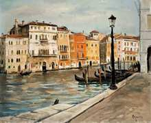 Takanori OGUISS - Painting - Canal à Venise