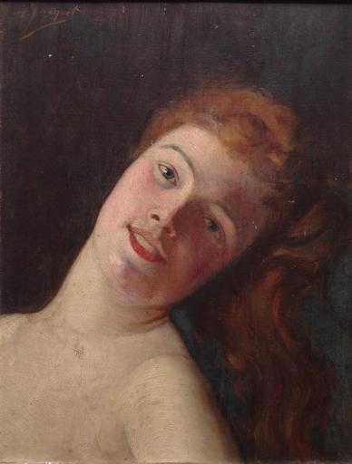 Henry Léon JACQUET - Pintura - Odalisque rousse