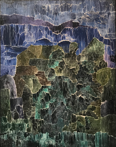 Siegfried LASKE - Peinture - Aluvion, 1971