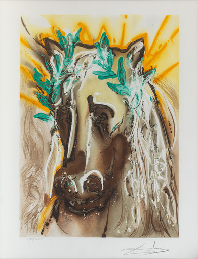 Salvador DALI - Estampe-Multiple - Le cheval du printemps