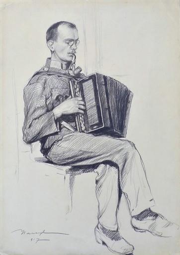 Frederick Judd WAUGH - Dibujo Acuarela - Untitled