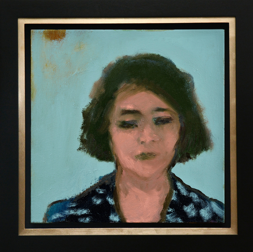 Jennifer HORNYAK - Peinture - Woman with Print Dress
