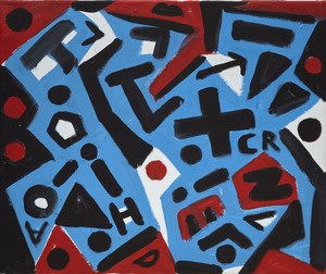 """A.R. PENCK - Painting - """"Näherkommendes"""" (Coming closer)"""