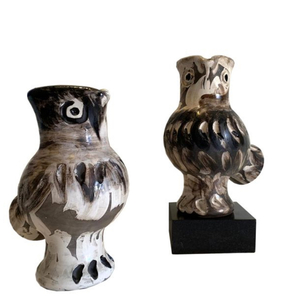 Pablo PICASSO - Ceramiche - Couple de Chouettes