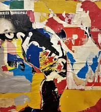 Jacques VILLEGLÉ - Pintura - LIBERTÉS MUNICIPALES - 1964