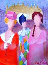 Valerio BETTA - Painting - Ricordo di Venezia con arlecchino-Venice carnival