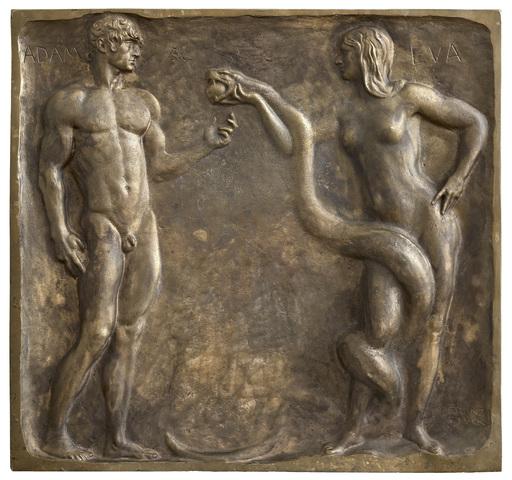 Franz VON STUCK - Scultura Volume - Adam und Eva