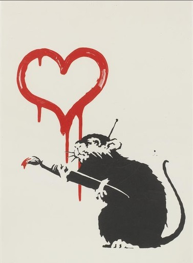 BANKSY - Grabado - Love Rat