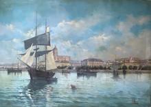 Enrique MARÍN HIGUERO - Pintura - Puerto de Málaga