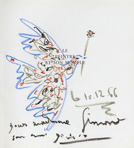 Pablo PICASSO - Zeichnung Aquarell - Colombe