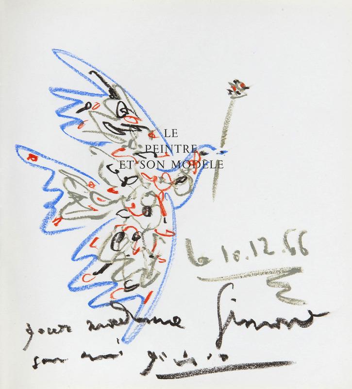 Pablo PICASSO - Disegno Acquarello - Colombe