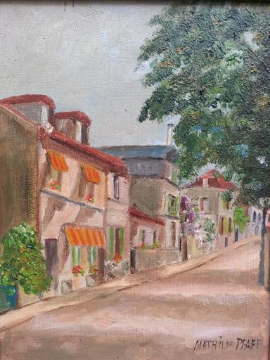 Mathil DE PFAFF - Pintura - Montmartre - Rue de l'abreuvoir
