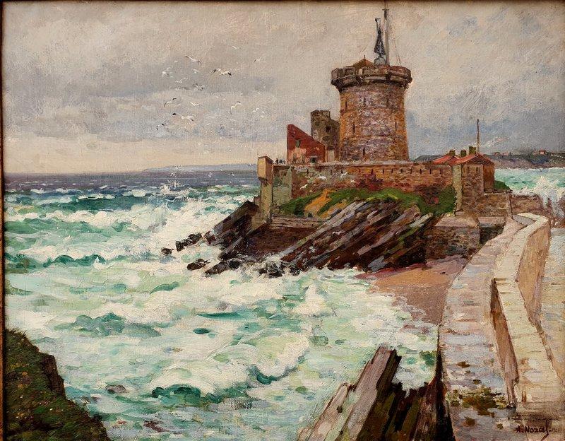 "Alexandre NOZAL - Painting - ""LE FORT DE SOCOA A CIBOURE"""